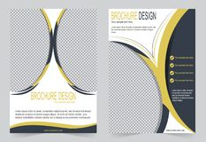 Шаблон брошюры, дизайн рогульки шаблон черный и желтый бесплатная иллюстрация