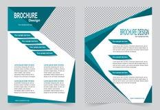Шаблон брошюры, шаблон зеленого цвета дизайна рогульки Стоковая Фотография RF