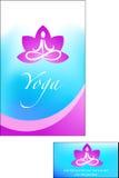 шаблон брошюры йоги Стоковые Изображения RF