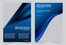 Шаблон брошюры, шаблон сини военно-морского флота дизайна рогульки бесплатная иллюстрация