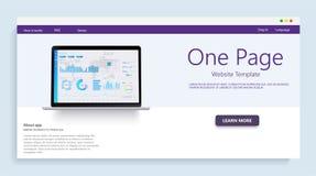 Шаблон вебсайта для вебсайтов, или apps Данные по и вклад анализа белизна успеха дела изолированная принципиальной схемой Финансо иллюстрация штока