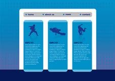 Шаблон вебсайта с танцулькой пролома иллюстрация вектора