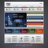 Шаблон вебсайта Стоковые Изображения RF