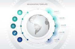Шаблон вектора границы временной рамки основных этапов работ Infographic startup Стоковая Фотография RF