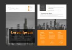 Шаблон вектора дизайна рогульки брошюры современного дела корпоративный Стоковая Фотография