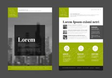 Шаблон вектора дизайна рогульки брошюры современного дела корпоративный Стоковые Фотографии RF