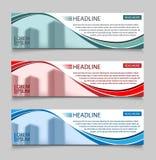 Шаблон вектора знамен дела вебсайта горизонтальный Абстрактный дизайн концепции дела дизайна знамени с healine для иллюстрация вектора