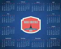 Шаблон вектора календарного года 2013 Стоковые Изображения