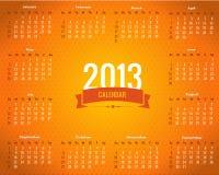 Шаблон вектора календарного года 2013 иллюстрация штока