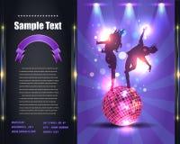 Шаблон вектора рогульки брошюры партии Стоковое фото RF