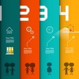 Шаблон вектора infographic Infographics 4 шагов иллюстрация вектора