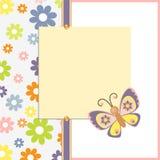 шаблон весны открытки пасхи Стоковое Фото