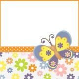 шаблон весны открытки пасхи Стоковые Изображения