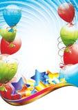 шаблон вечеринки по случаю дня рождения Стоковые Фотографии RF
