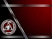 шаблон визитной карточки глубоко - красный серебряный Стоковое Изображение