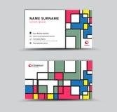 Шаблон визитной карточки, концепция творческой идеи современная иллюстрация вектора