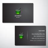 шаблон визитной карточки Стоковое Фото