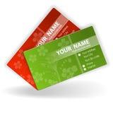 шаблон визитной карточки Стоковые Изображения RF