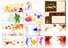 Шаблон визитной карточки Стоковые Изображения