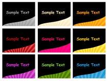 шаблон визитных карточек Стоковое Фото