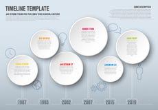 Шаблон временной последовательности по Infographic вектора Стоковые Фото
