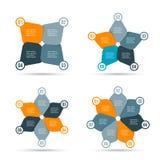 Шаблон дизайна вектора infographic Концепция дела с 4, 5, 6 и 7 вариантами, частями, шагами или процессами смогите быть использов бесплатная иллюстрация