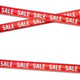 Шаблон дизайна знамени продажи черная пятница Реалистическая лента с текстом Бесплатная Иллюстрация