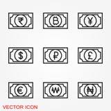 Шаблон дизайна значка валюты денег E бесплатная иллюстрация