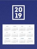 шаблон дизайна 2019 календарей крытый Стоковая Фотография RF