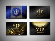 Шаблон дизайна карточек Vip Стоковое фото RF