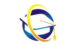 Шаблон дизайна логотипа стипендии иллюстрация вектора
