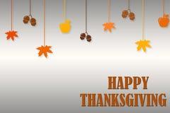 Шаблон дизайна плаката счастливого дня благодарения типографский Спасибо шаблон поздравительной открытки Предпосылка полная ветве стоковые изображения rf