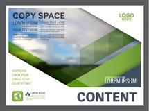 Шаблон дизайна плана представления растительности Обложка годового отчета Стоковые Фото
