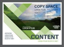 Шаблон дизайна плана представления растительности Обложка годового отчета Стоковая Фотография RF