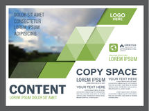 Шаблон дизайна плана представления растительности Обложка годового отчета Стоковое Фото