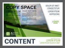 Шаблон дизайна плана представления растительности Обложка годового отчета Стоковые Изображения