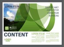Шаблон дизайна плана представления растительности Обложка годового отчета Стоковая Фотография