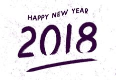 Шаблон дизайна поздравительной открытки с китайской каллиграфией на 2018 Новых Годов собаки Ультрафиолетов letterin 2018 нарисова Стоковая Фотография RF