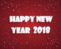Шаблон дизайна поздравительной открытки с современным текстом для 2018 нового Стоковые Фото