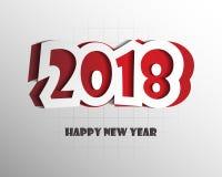 Шаблон дизайна поздравительной открытки с современным текстом на 2018 Новых Годов Стоковое Фото