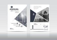 Шаблон дизайна рогульки брошюры крышки годового отчета Стоковые Фото