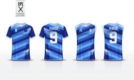 Шаблон дизайна спорта футболки для футболки, набора футбола и верхней части танка для jersey баскетбола Форма в фронте и заднем в иллюстрация вектора