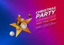 Шаблон дизайна с Рождеством Христовым партии стоковые изображения