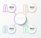 Шаблон дизайна Infographic Творческая концепция с 4 шагами Иллюстрация вектора