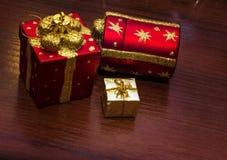 Шаблон для открытки с игрушками рождества Справочная информация Стоковые Фото