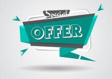 Шаблон знака специального предложения знамени продажи знамя скидки рогулек покупок Стоковая Фотография