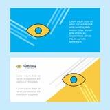Шаблон знамени корпоративного бизнеса конспекта глаза, горизонтальное знамя рекламируя дела иллюстрация штока