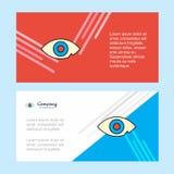 Шаблон знамени корпоративного бизнеса конспекта глаза, горизонтальное знамя рекламируя дела бесплатная иллюстрация