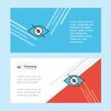 Шаблон знамени корпоративного бизнеса конспекта глаза, горизонтальное знамя рекламируя дела иллюстрация вектора