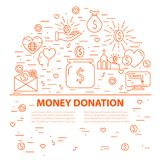 Шаблон знамени пожертвования Стоковые Фото
